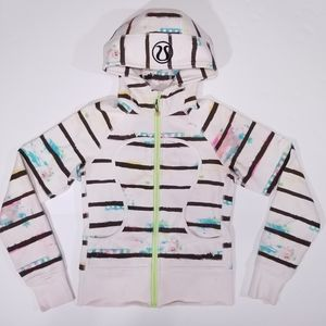 Lululemon Striped Colorful Tie Dye Scuba Hoodie